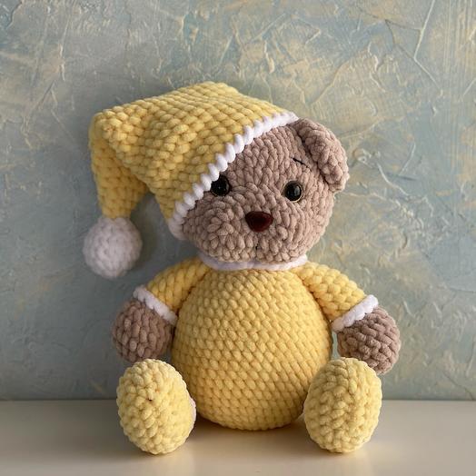 Мишка плюшевый  в пижаме мягкая игрушка