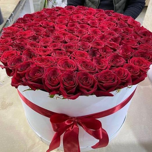 Цветы в коробке 101 Роза