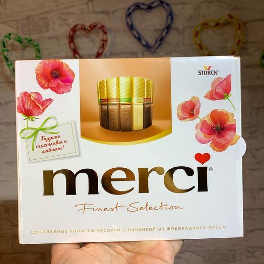 Конфеты Merci из шоколадного мусса