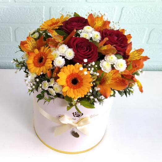 Цветы в коробке Солнечная полянка