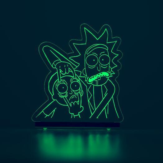 """Лампа с 1 цветом подсветки """"Рик и Морти"""""""