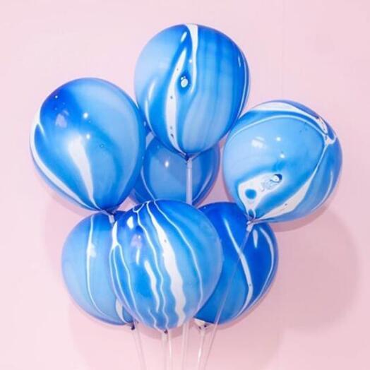 Шарики мрамор синий