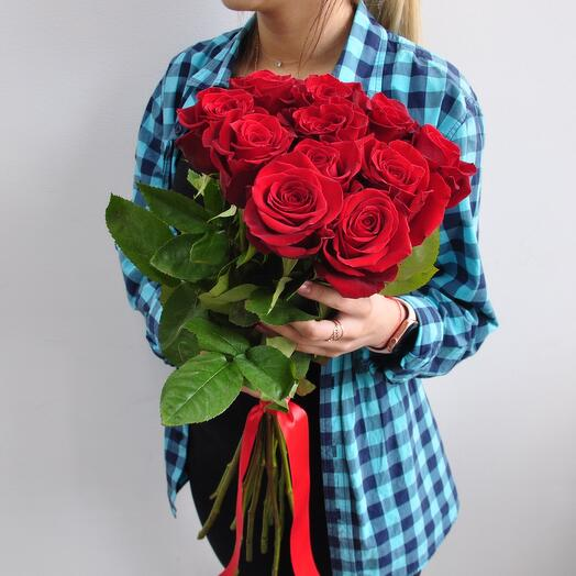 Red rose 70 cm 11 pcs