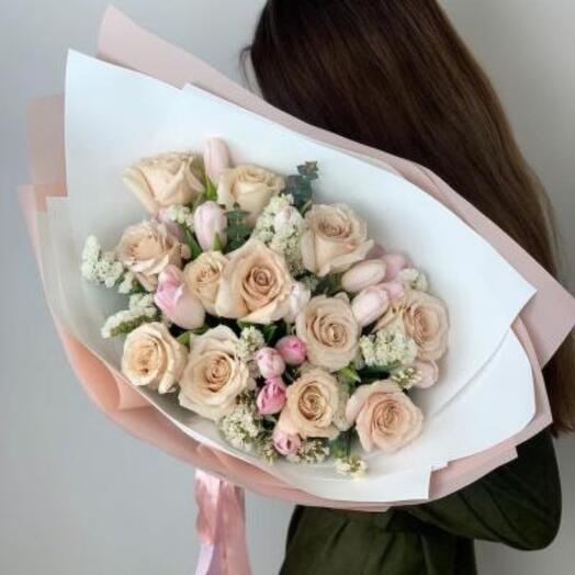 Нежный букет цветов «Evolution»