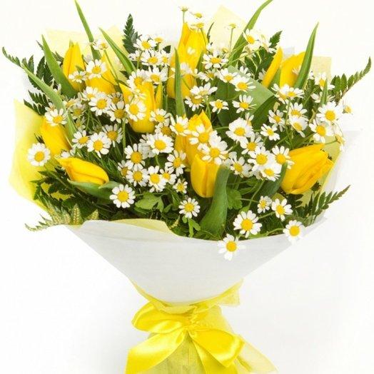 Букет Весеннее солнышко: букеты цветов на заказ Flowwow