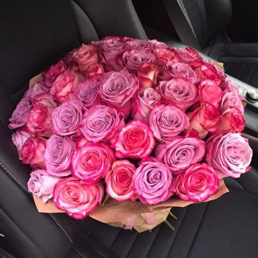 51 роза Эквадор: букеты цветов на заказ Flowwow