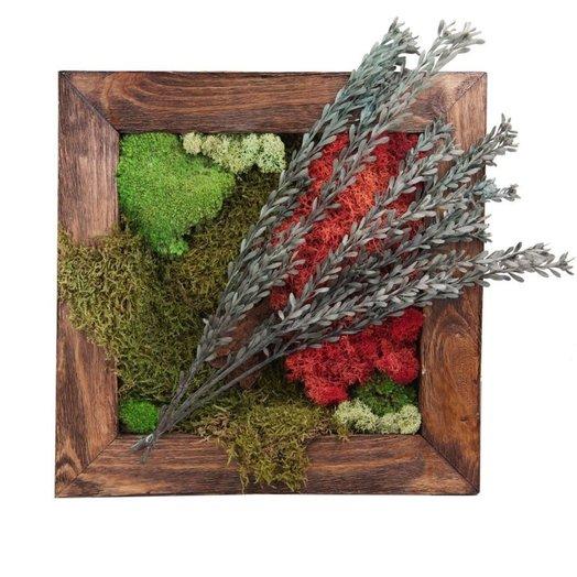 Настенная картина из стабилизированных растений RED LAKE: букеты цветов на заказ Flowwow