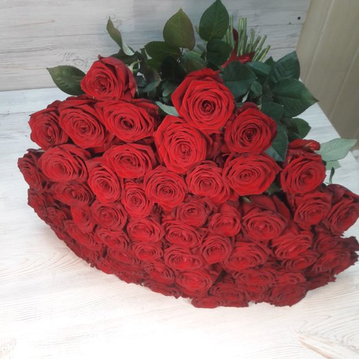 Букет из 51 красная роза: букеты цветов на заказ Flowwow
