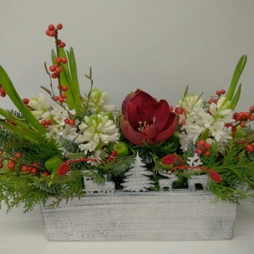 Ящик с подарками: букеты цветов на заказ Flowwow