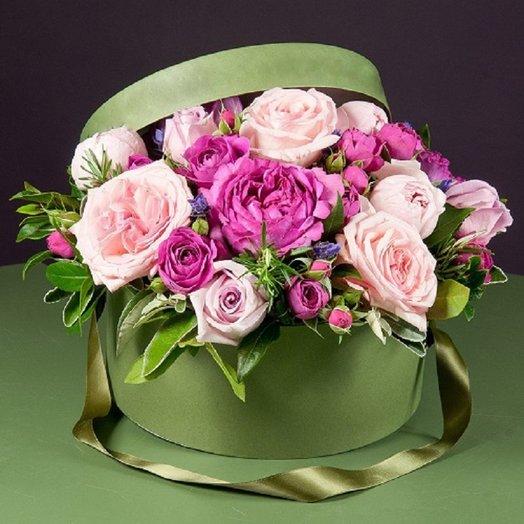 Мисти баблс с Розами в коробочке: букеты цветов на заказ Flowwow