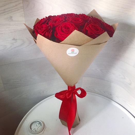 15 элитных роз : букеты цветов на заказ Flowwow