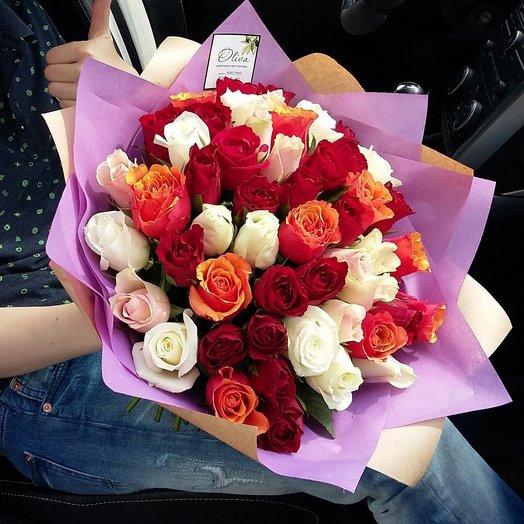Букет из 51 кенийской розы: букеты цветов на заказ Flowwow