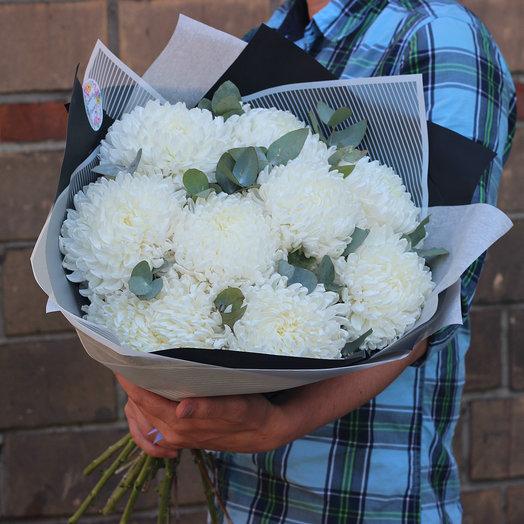 9 крымских хризантем: букеты цветов на заказ Flowwow