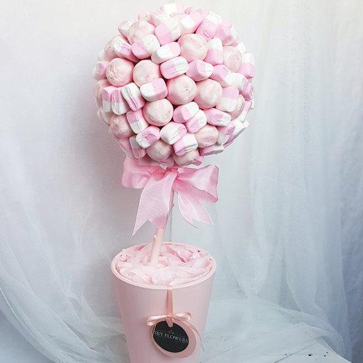Дерево из конфет и зефира: букеты цветов на заказ Flowwow