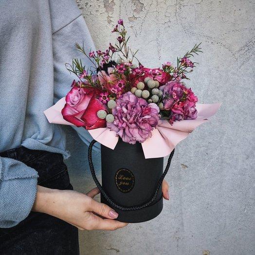 """Коробочка """"Полночь в Париже"""": букеты цветов на заказ Flowwow"""