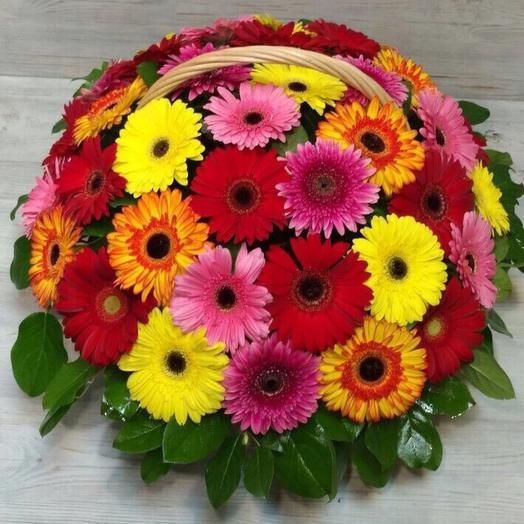 39 ГЕРБЕР в корзине: букеты цветов на заказ Flowwow