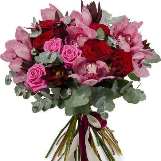 """Букет """"Вишневый сорбет"""": букеты цветов на заказ Flowwow"""