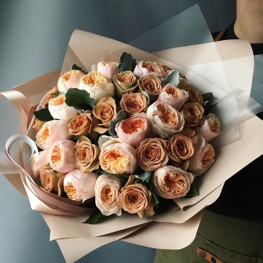 Потрясающий микс роз: букеты цветов на заказ Flowwow