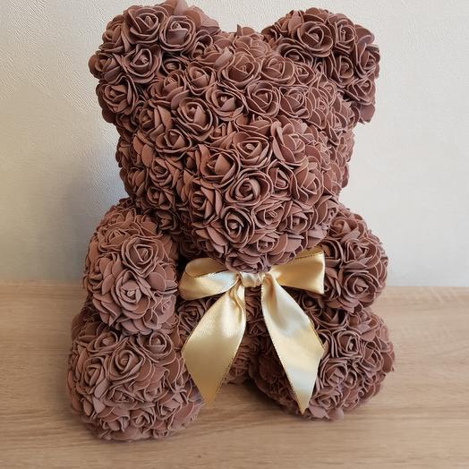 Коричневый мишка из роз: букеты цветов на заказ Flowwow