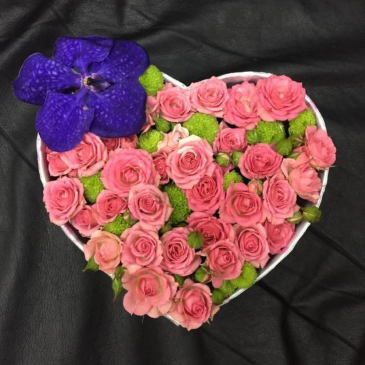 Сердце орхидеи: букеты цветов на заказ Flowwow