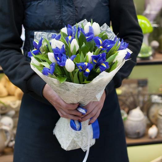 Букет цветов Черника со сливками: букеты цветов на заказ Flowwow
