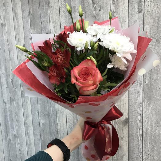 Воздушный поцелуй - сборный букет: букеты цветов на заказ Flowwow
