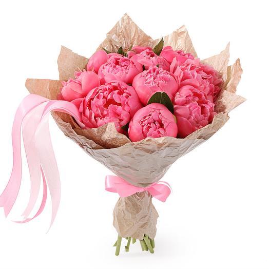 Букет из пионов Эйфория: букеты цветов на заказ Flowwow