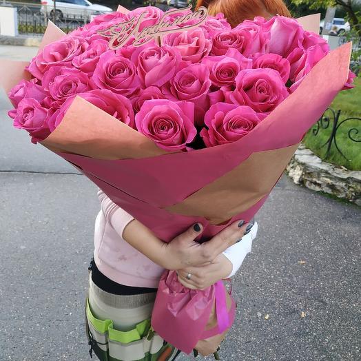 "Шикарный букет 39 роз ""Розовый омут"": букеты цветов на заказ Flowwow"