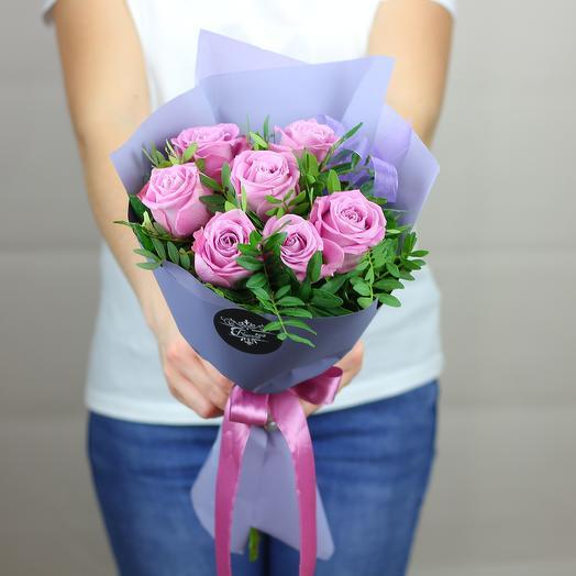 Лиловый комплимент: букеты цветов на заказ Flowwow