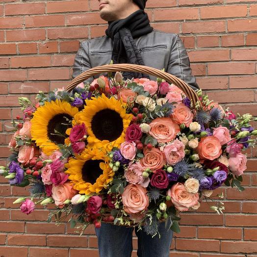 Корзина Ван Гог: букеты цветов на заказ Flowwow