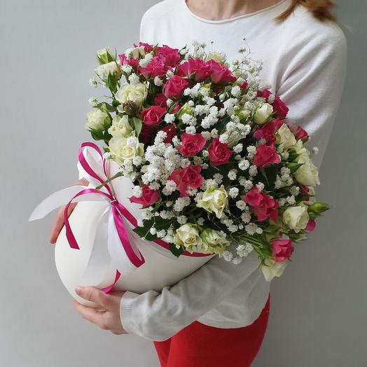 Коробка кустовых роз Нежная