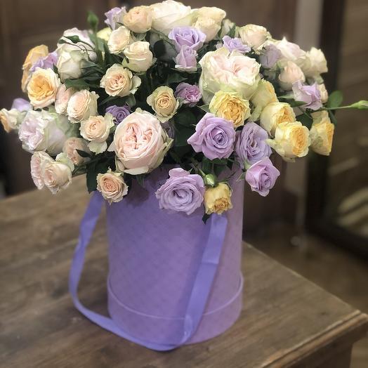 """цветы в коробке """"Лазурное небо"""""""