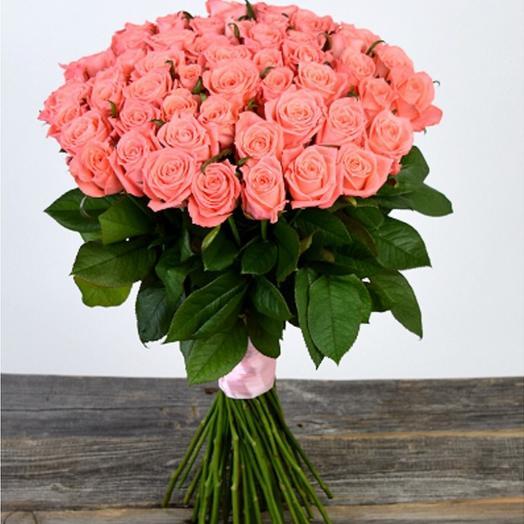 Роза Карина 60 см 51 шт. в крафте
