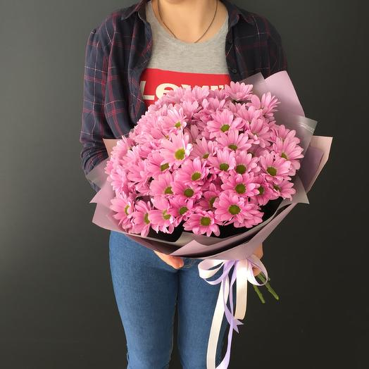 Bouquet of 7 pink chrysanthemums