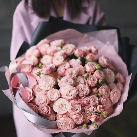 """Букет из  куставых роз """"Пинк парфюм"""""""
