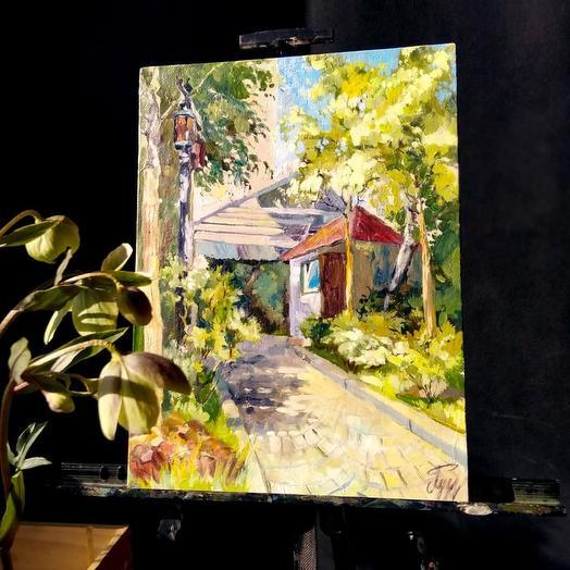 """Картина """"Уютная тропинка"""": букеты цветов на заказ Flowwow"""