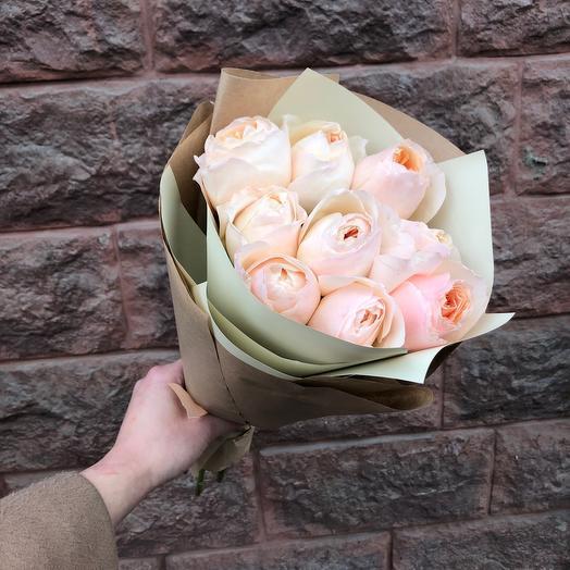 Моно пионовидные розы: букеты цветов на заказ Flowwow