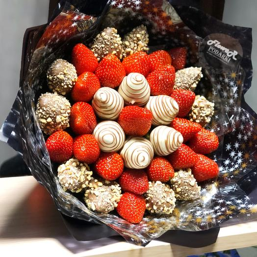 Клубничный букет «Сочная ягодка»