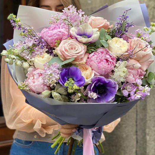 Букет цветов «Небесный цвет»