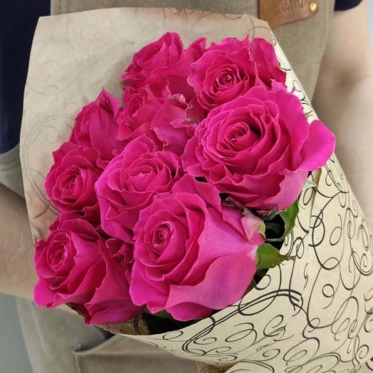 Букетик малиновых Эквадорских роз