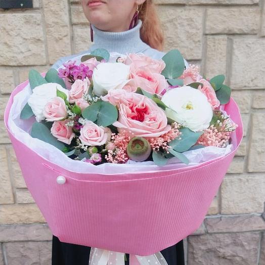 "Букет цветов ""Мадам Помпадур"""