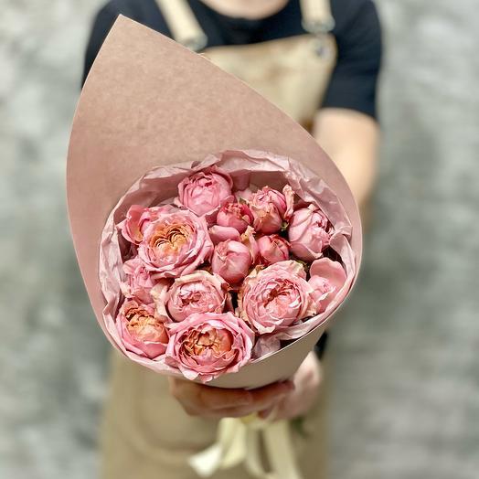 Нежный букет из очаровательной розы Джульетта