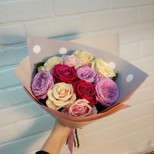 11 роз ассорти