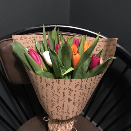 Тюльпаны  микс