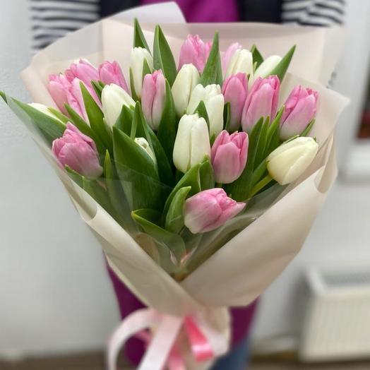 Букет 25 восхитительных тюльпан «Тебе Любимая»