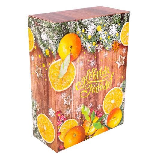 Коробка складная «Зимние мандарины»