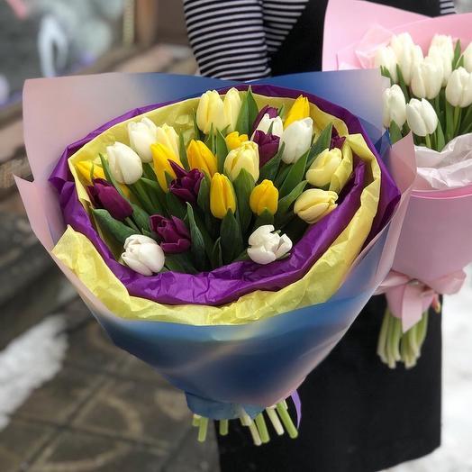Микс ярких Тюльпанов 25 штук