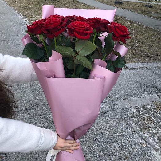 15 длинных роз