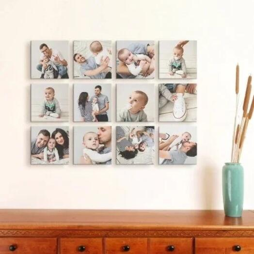 Набор из 12 самоприкрепляющихся картин Photoframe 20х20 см