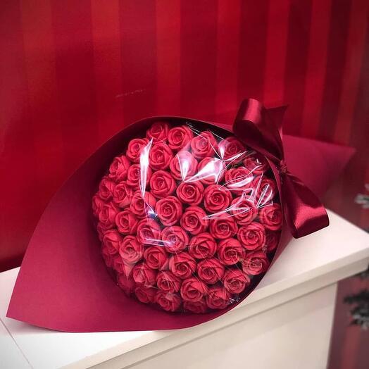 Шоколадные розы 8